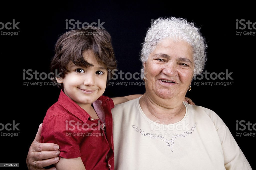 Grandmother and son royalty-free stock photo