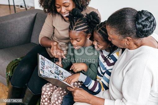 Mother grandmother and grandchildren