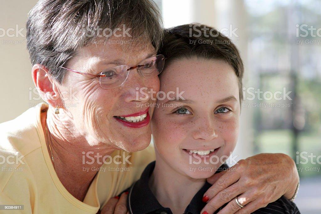 Grandmother & Grandson royalty-free stock photo