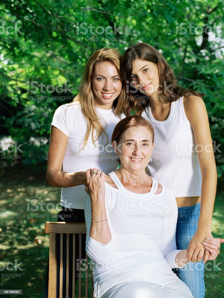 Grandmother, mother and daughter royalty-free stock photo