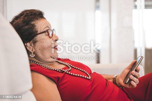 Grandmother, Senior Adult, Family, Happiness, Using Phone