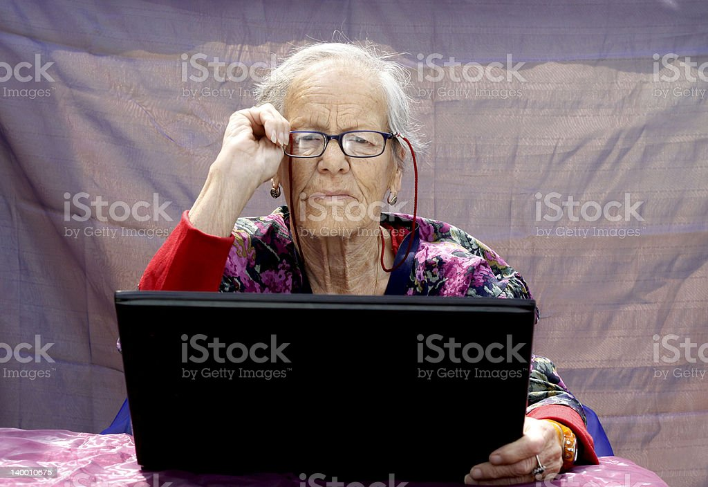grandmother web stock photo