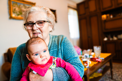1088637186 istock photo Grandmother with baby girl 1144562812
