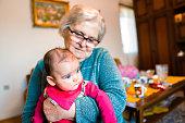 istock Grandmother with baby girl 1144562860