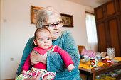 istock Grandmother with baby girl 1144562907