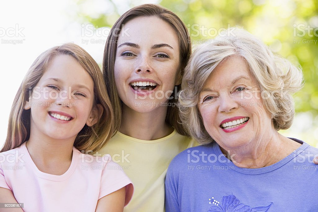 Grandmother with daughter and grandchild royalty-free stock photo