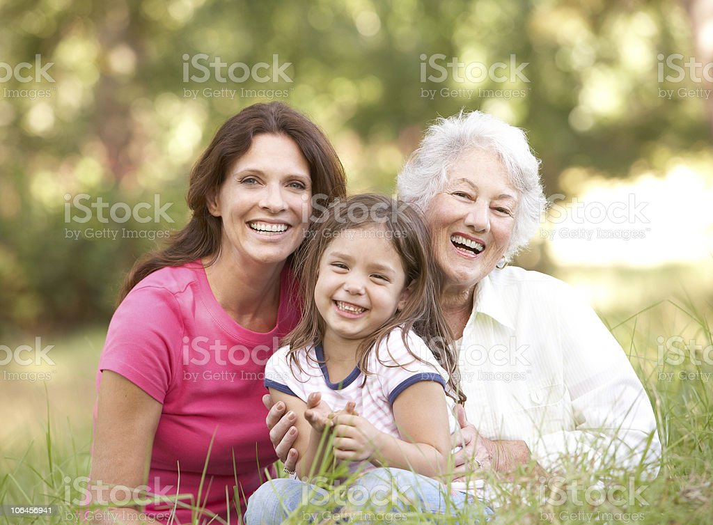Grandmother With Daughter And Granddaughter royalty-free stock photo
