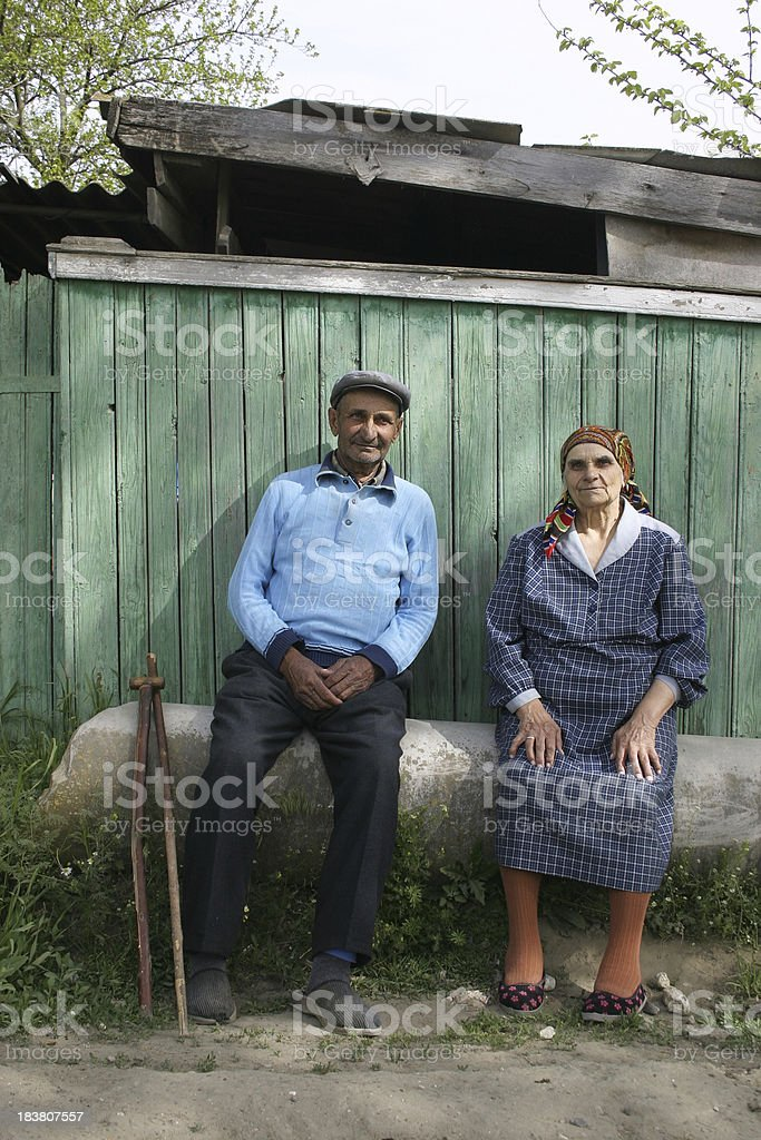 Grandmother with grandfather stock photo