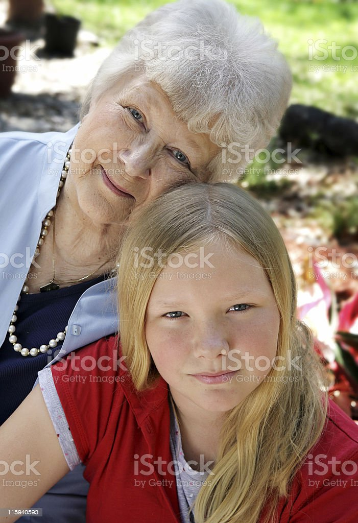 Grandmother's Love royalty-free stock photo