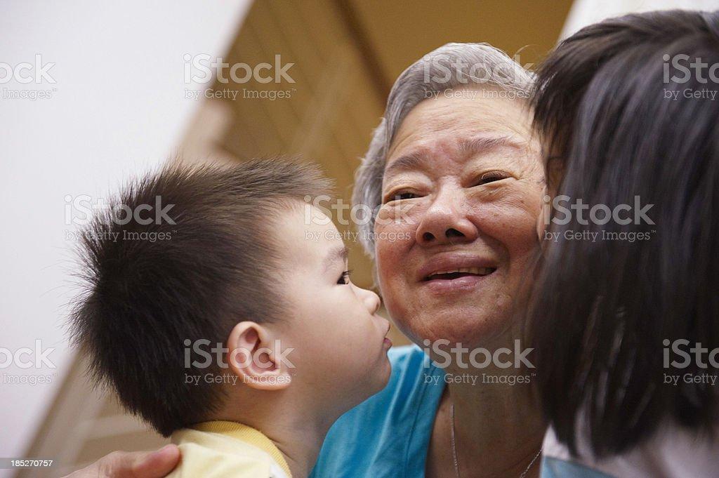 Grandmother's Love royalty-free stock photo