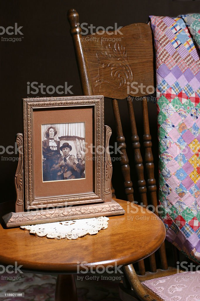 Grandmother's table royalty-free stock photo