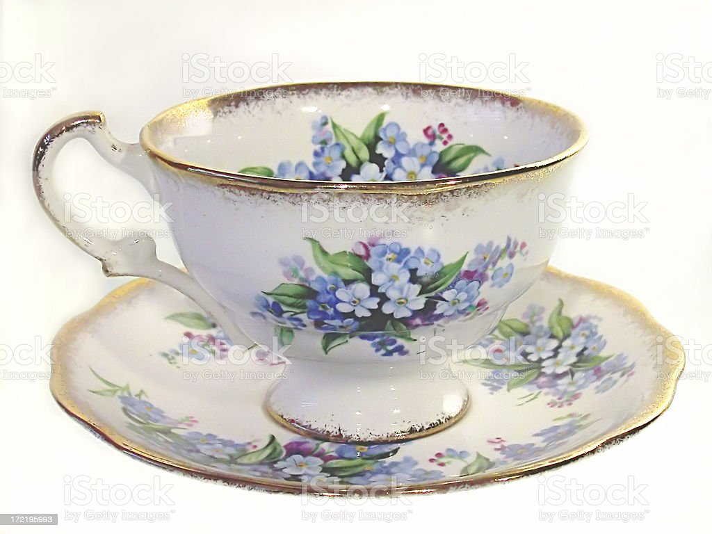 Grandmothers Teacup stock photo