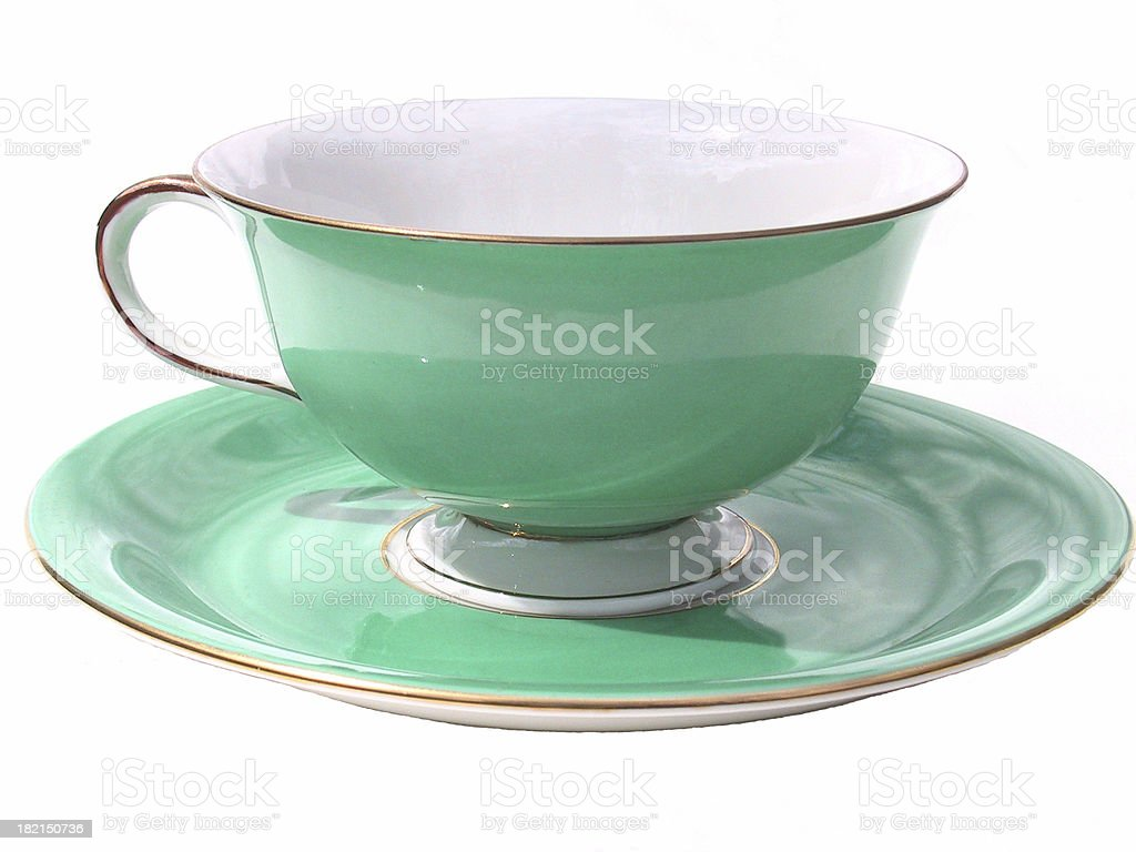 Grandmother's teacup2 stock photo