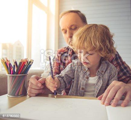istock Grandpa and grandson 613780332