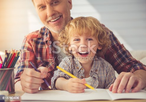 istock Grandpa and grandson 613780406