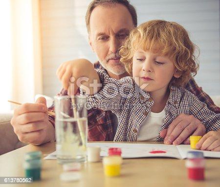 istock Grandpa and grandson 613780562