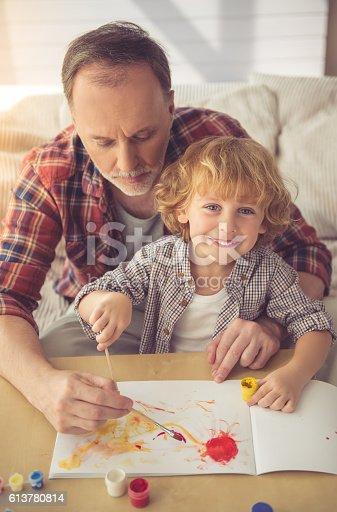 istock Grandpa and grandson 613780814