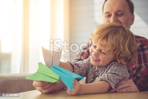 istock Grandpa and grandson 613780960