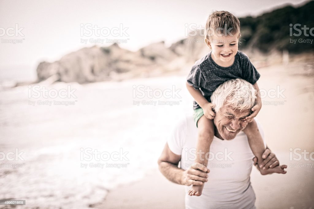 Grandpa and me! stock photo