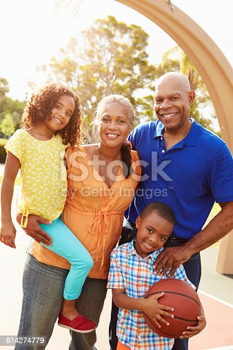 istock Grandparents And Grandchildren Playing Basketball Together 514274779