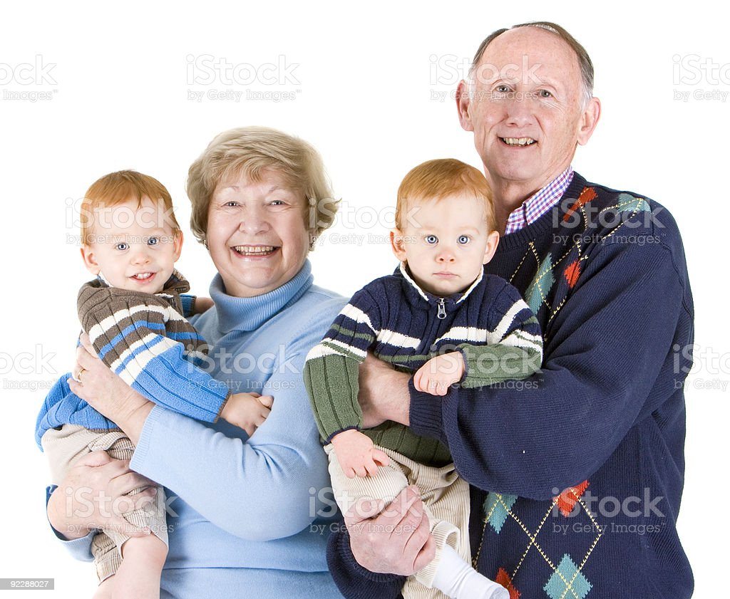Grandparents and grandsons royalty-free stock photo