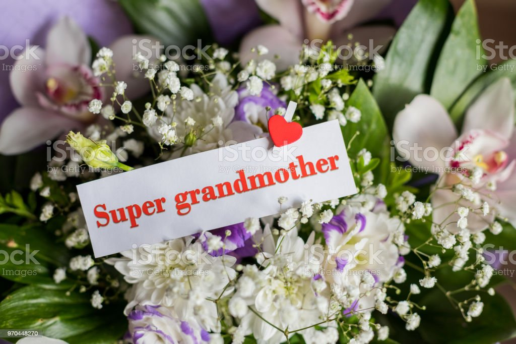 Mothers Day. Greeting Card with Flowers and Text - You are my super...