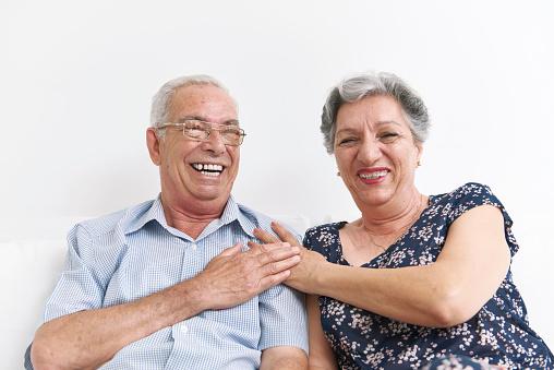 Grandparents funny portraid