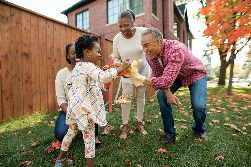 istock Grandparents, parent and granddaughter together 1087045908