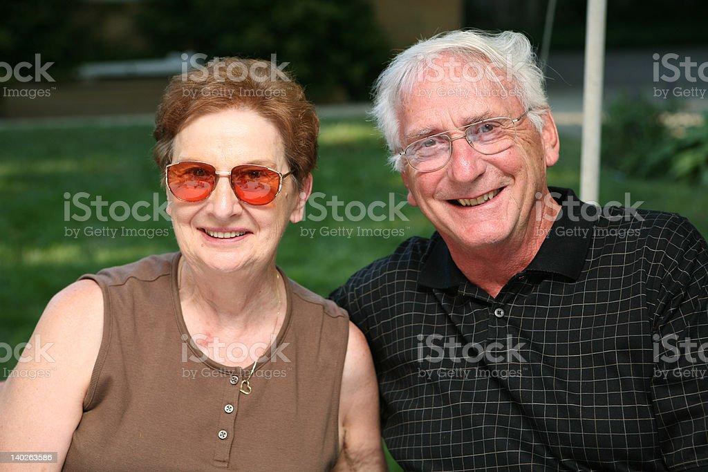 Grandparents stock photo