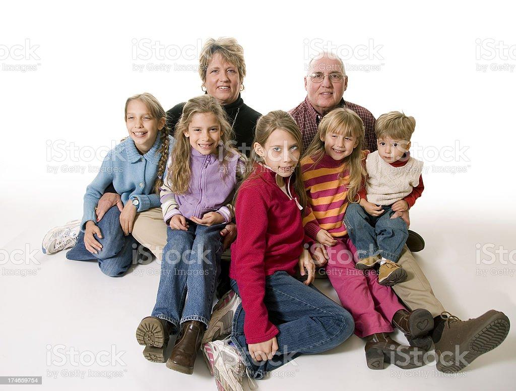 Grandparents Portrait stock photo