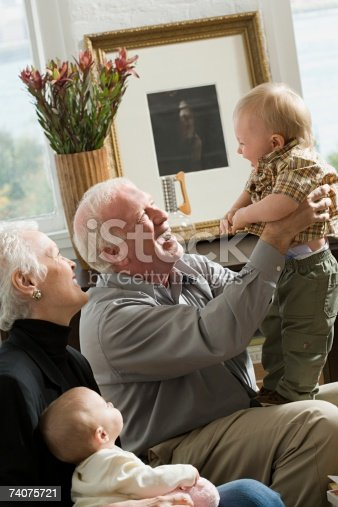 istock Grandparents with babies 74075721