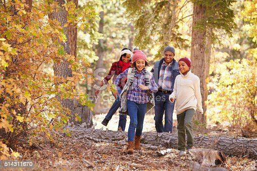 istock Grandparents With Children Walking Through Fall Woodland 514311670