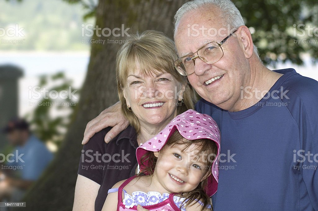 Grandparents With Grandchild royalty-free stock photo
