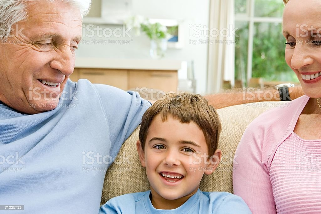 Grandparents with their grandchild royalty-free stock photo