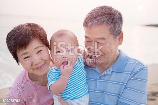 grandparents with their grandson, great for your design