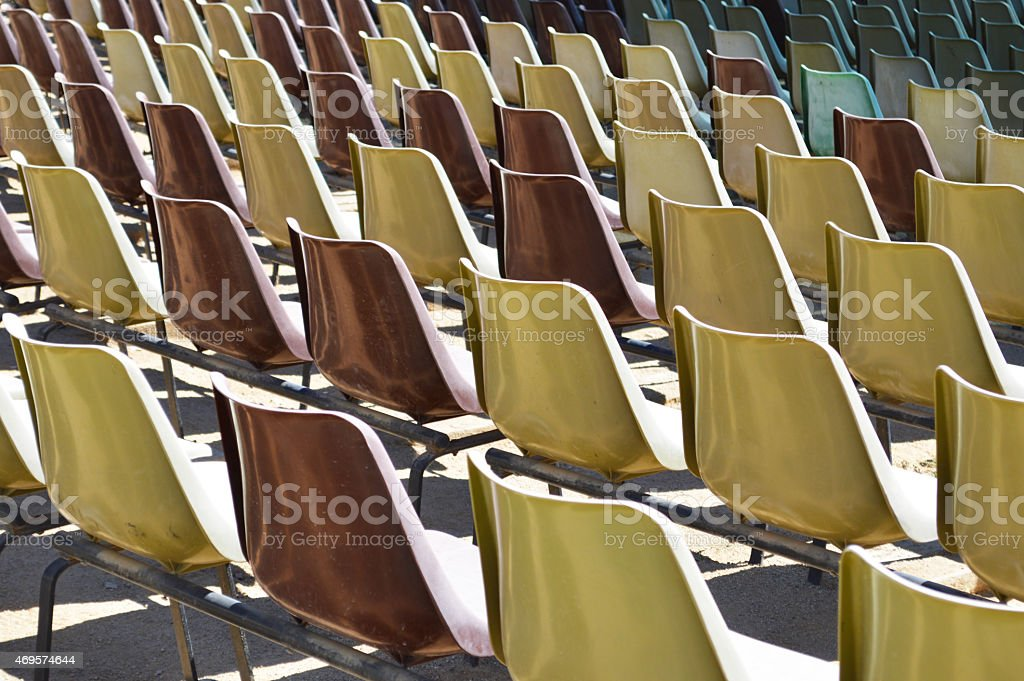 Grandstand seats royalty-free stock photo
