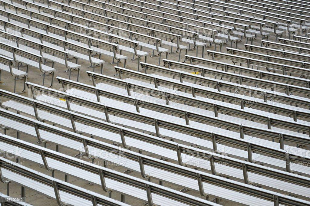 Grandstand seats stock photo