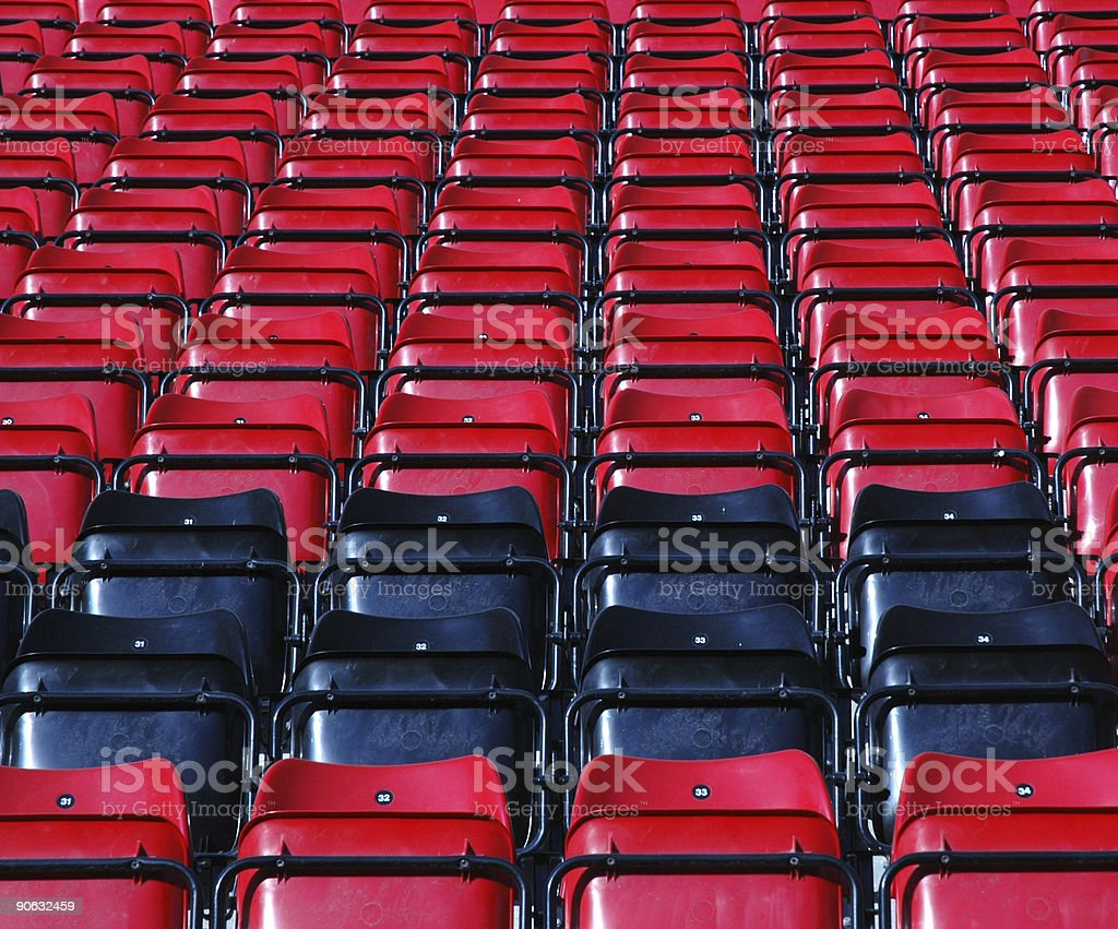 Grandstand Seats #3 royalty-free stock photo