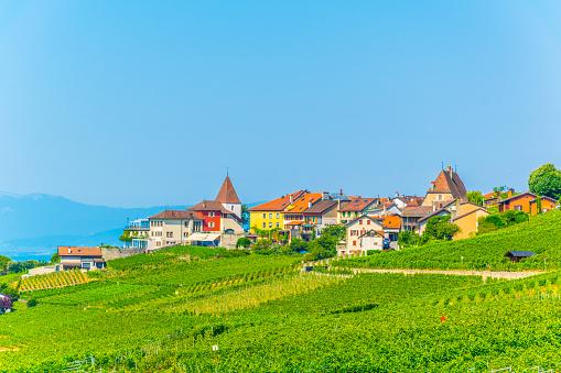 Grandvaux village in the Lavaux region of switzerland