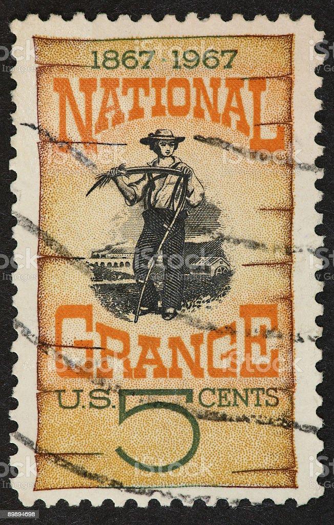 Grange centennial stamp 1967 royalty-free stock photo