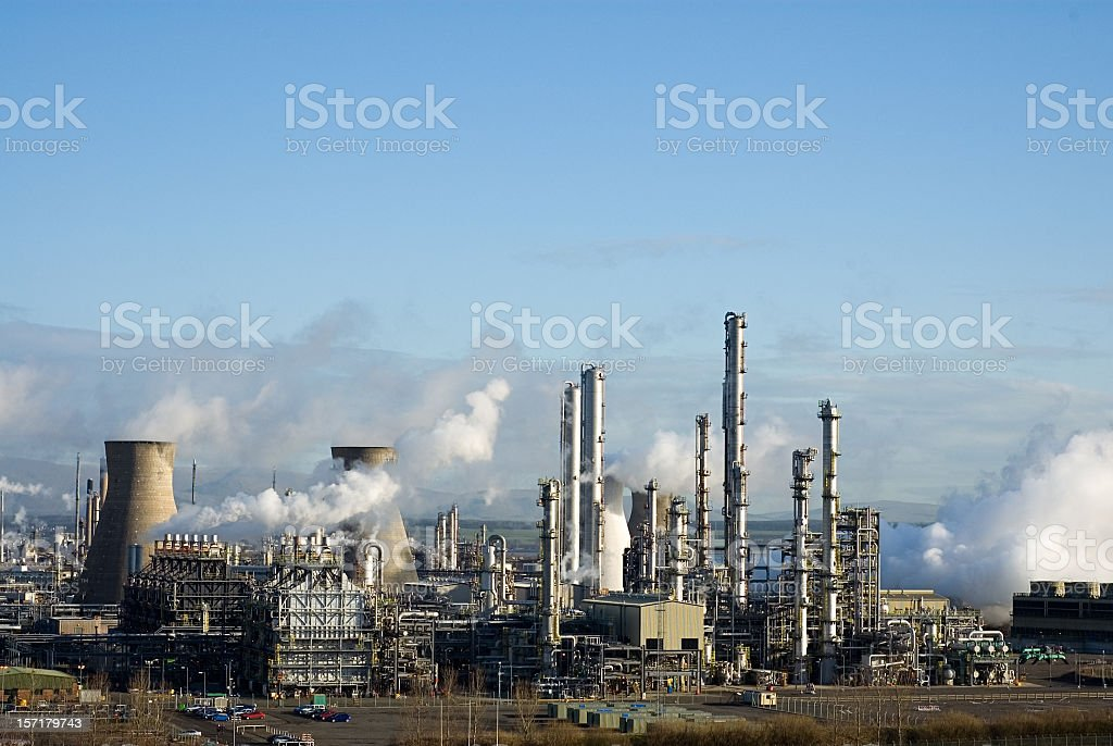 Grangemouth Petrochemical Refinery stock photo