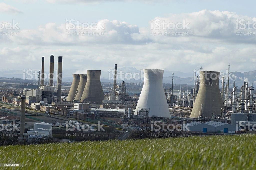 Grangemouth Refinery stock photo