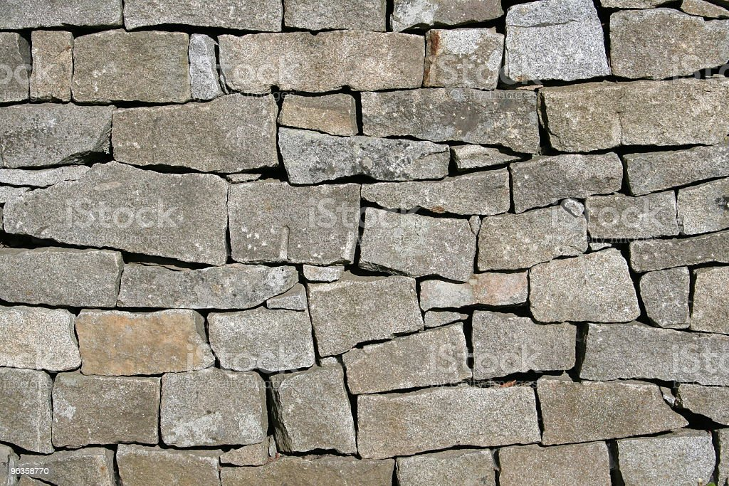 granite block wall stock photo