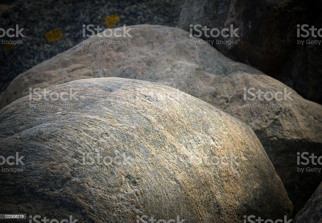 Granite boulders royalty-free stock photo
