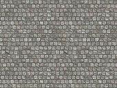 Granite cobblestoned pavement background.