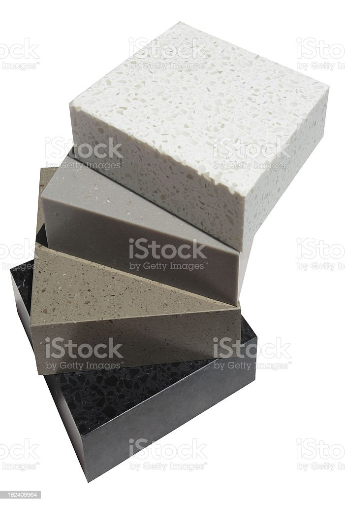 Granite Composite Building Samples Isolated Stock Photo