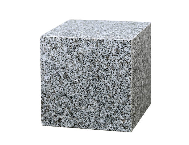 granite cube stock photo
