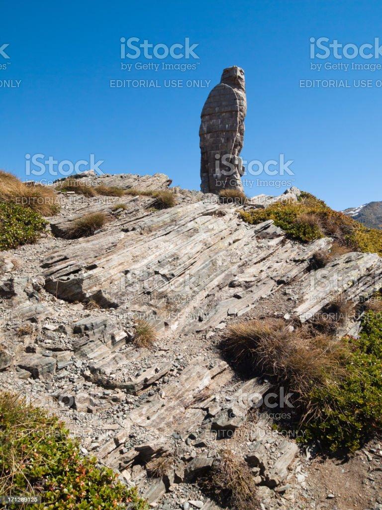 Granite Eagle on Simplon Pass stock photo