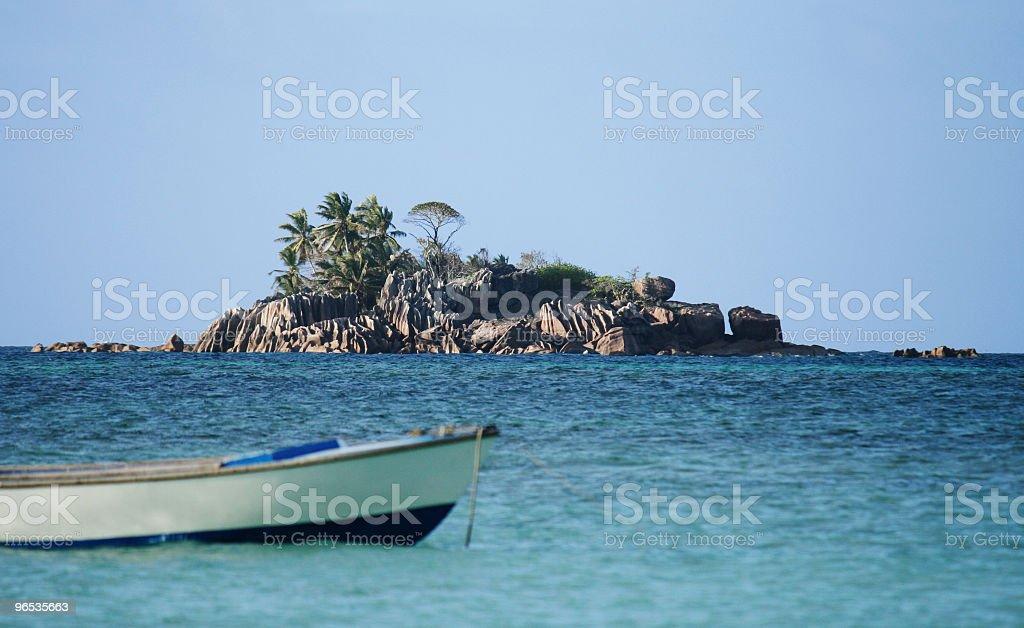 Granite Island na Seszelach zbiór zdjęć royalty-free