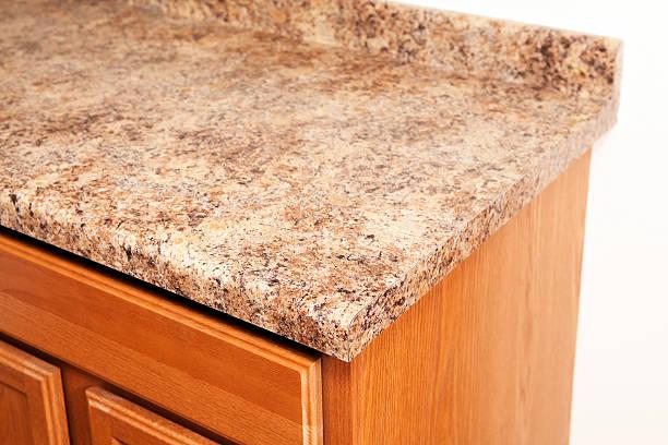 granite laminat küche arbeitsplatte corner-detail - laminat günstig stock-fotos und bilder